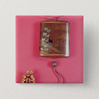 Four case inro 15 cm square badge