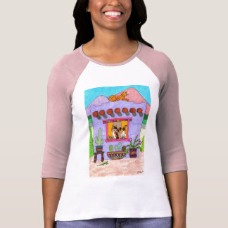 Four Cats at a Purple Adobe House T-Shirt