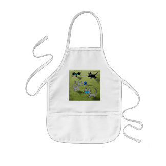 Four Cats Play Soccer Aprons