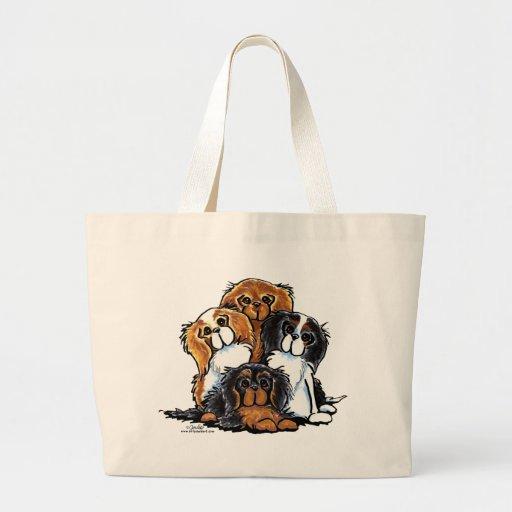 Four Cavalier King Charles Spaniels Canvas Bag