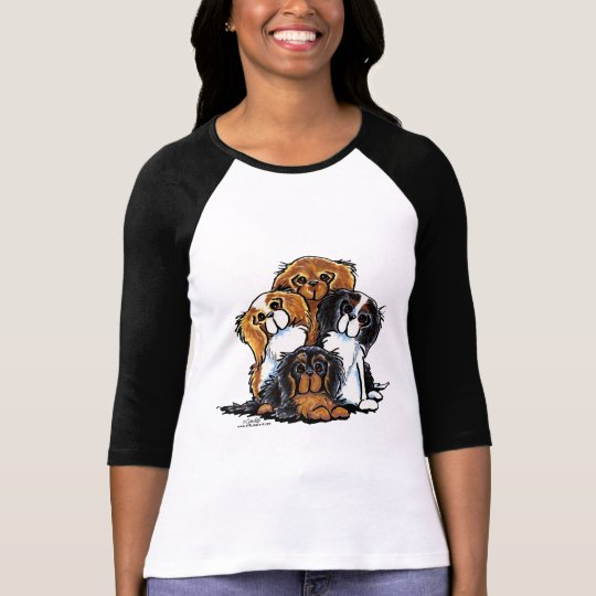 Four Cavalier King Charles Spaniels T-Shirt