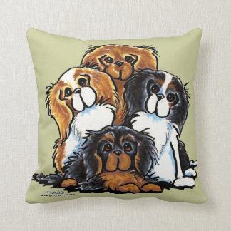 Four Cavalier King Charles Spaniels Throw Pillow