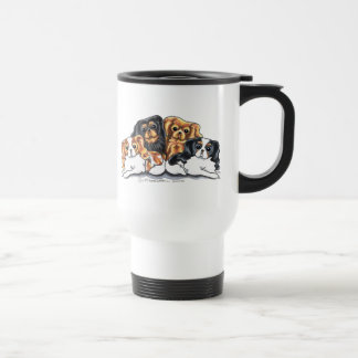 Four Cavalier King Charles Spaniels Travel Mug