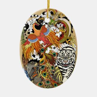 four celestial animals christmas ornament