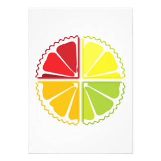 Four citrus fruits card