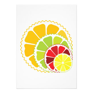 Four citrus fruits custom announcements