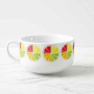 Four citrus fruits soup mug