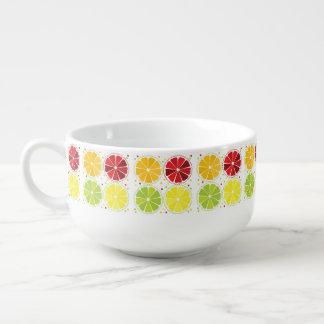 Four citrus fruits soup bowl with handle