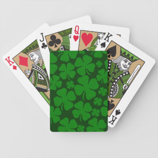 Four Clover Leaves Bicycle Poker Cards