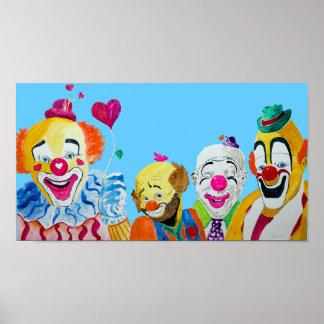 Four Clowns Print