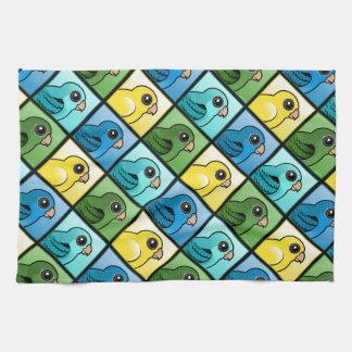 Four Color Linnies Tea Towel
