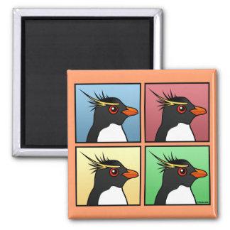 Four Color Rockhopper Square Magnet