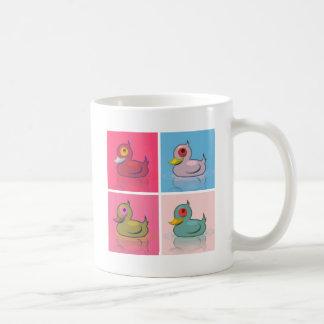 Four Colorful Ducks Coffee Mug