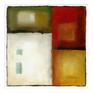 Four Colorful Rectangles by Chariklia Zarris Acrylic Print