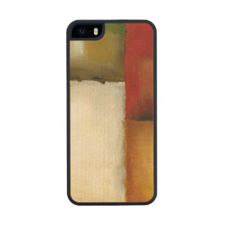 Four Colorful Rectangles by Chariklia Zarris Carved® Maple iPhone 5 Slim Case