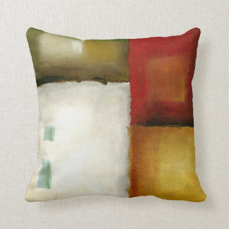 Four Colorful Rectangles by Chariklia Zarris Cushion