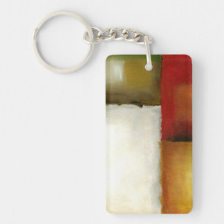 Four Colorful Rectangles by Chariklia Zarris Key Ring