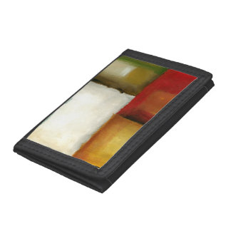 Four Colorful Rectangles by Chariklia Zarris Trifold Wallets