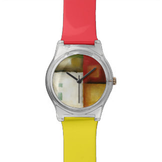 Four Colorful Rectangles by Chariklia Zarris Watch