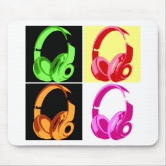 Four Colors Headphone Pop Art Head Phone Mouse Pad