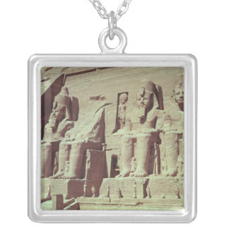 Four colossal figures of the king silver plated necklace