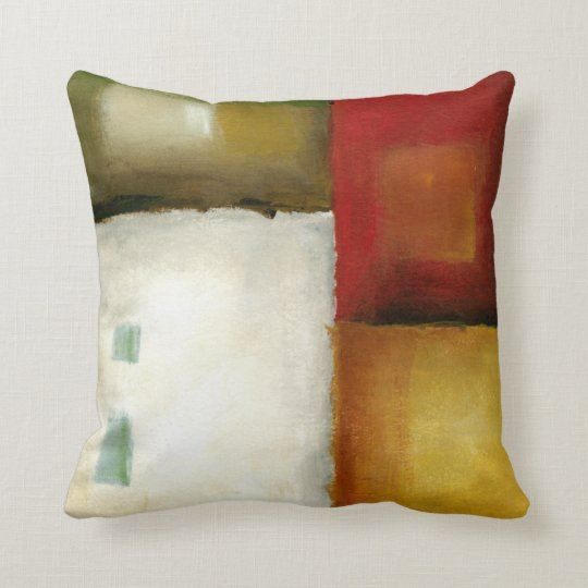 Four Colourful Rectangles by Chariklia Zarris Cushion