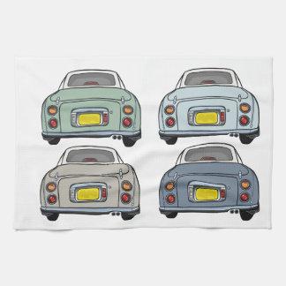 Four Colours of Figaro Cars Tea Towel