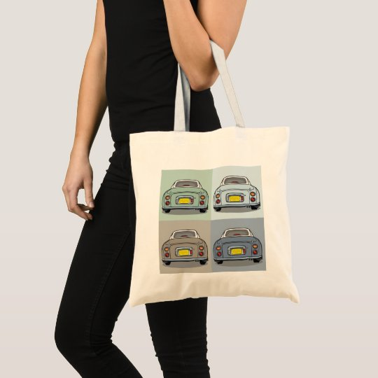 Four Colours of Nissan Figaro Cars Tote Bag
