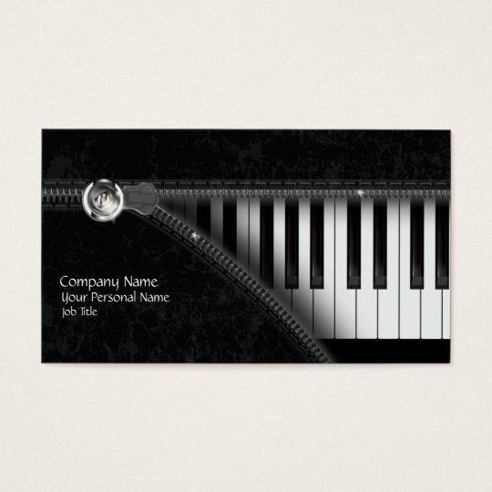 Four Colours Piano Keyboard Business Card