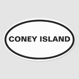 FOUR Coney Island Oval Sticker