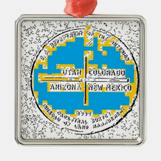 Four Corners Four States Christmas Ornament