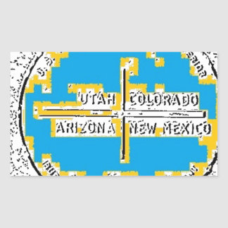 Four Corners Four States Rectangular Sticker