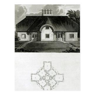 Four Cottages, 1818 Postcard