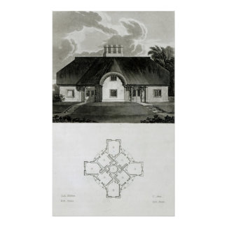 Four Cottages, 1818 Poster