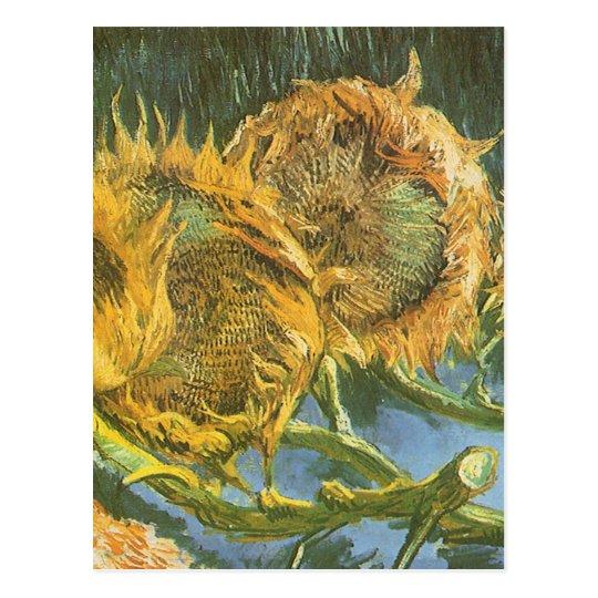 Four Cut Sunflowers by Vincent van Gogh, Fine