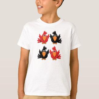Four Cute Cartoon Birds T-Shirt