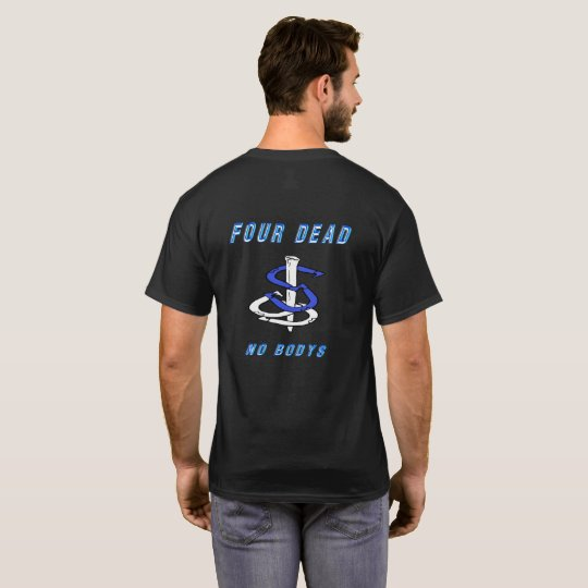 Four Dead Basic Dark HorseShoe Pitching T T-Shirt