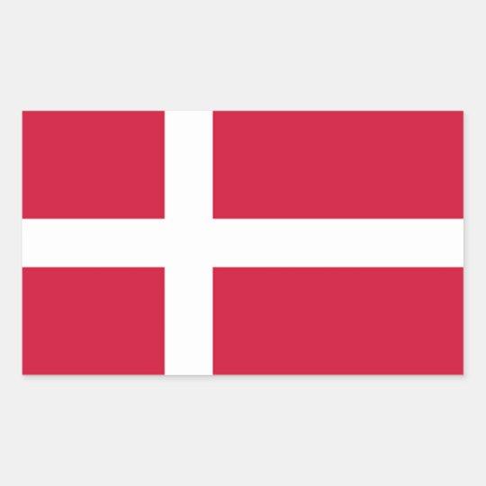 FOUR Denmark National Flag Rectangular Sticker