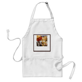 Four Dessert Panel on Chocolate Brown Standard Apron