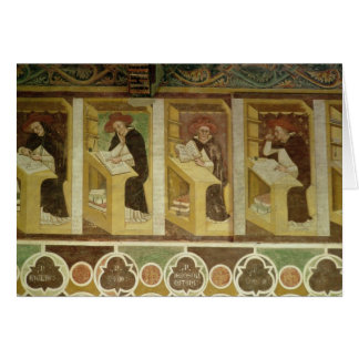 Four Dominican Monks at their Desks, from the cycl Card