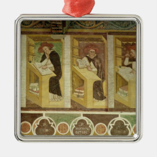 Four Dominican Monks at their Desks, from the cycl Christmas Ornament