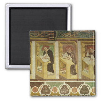 Four Dominican Monks at their Desks, from the cycl Magnet