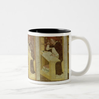 Four Dominican Monks at their Desks, from the cycl Two-Tone Coffee Mug