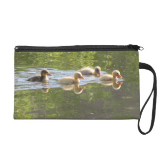 Four Ducklings Swimming Wristlet