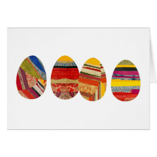 Four Eggs for Easter Greeting Card