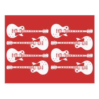 Four Electric Guitars in Black & White Postcard