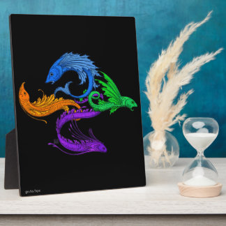 Four Elemental Flying Fish Photo Plaques