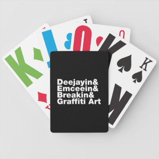 Four Elements of Hip Hop Bicycle Playing Cards
