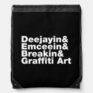 Four Elements of Hip Hop Drawstring Backpack