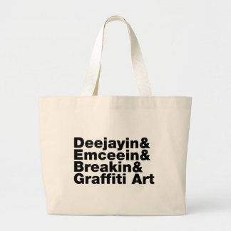 Four Elements of Hip Hop Jumbo Tote Bag